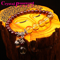 水晶密码CrystalPassWord 原创天然巴西石榴石莲花女款SJMM3-007