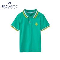 派克兰帝品牌童装 夏装男童印花POLO领短袖T恤 儿童T恤