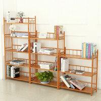 竹山下 儿童书架 简易办公室置物架 创意现代简约实木小书柜