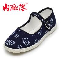 内联升 女鞋 坤千底加密蜡染一代边 老北京布鞋 8619A