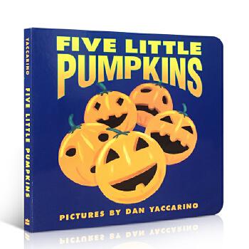 英文原版绘本 5 Litt Pumpkinsbb 五个小南瓜 万圣节 儿童绘本 幼儿启蒙学习英文版 儿童启蒙阅读教材绘本