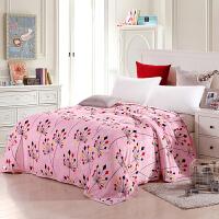 优雅100 加厚法兰绒毯子 珊瑚绒毛毯床单毛巾被午睡单人双人盖毯