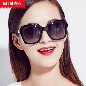 威古氏太阳镜女  新款螺旋细纹大框墨镜时尚偏光太阳镜9076