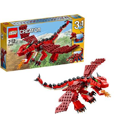 [当当自营]LEGO 乐高 CREATOR创意百变系列 红色巨怪 积木拼插儿童益智玩具 31032【当当自营】适合7-12岁,221pcs 小颗粒积木