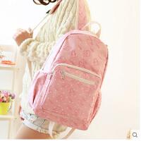 韩版防水背包潮学院风旅行包 高中学生书包女包初中生双肩包