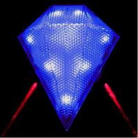 小巧精致户外夜视钻石型激光尾灯 单车安全警示防水耐用 骑行尾灯