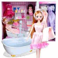 女孩玩具芭比娃娃套装大礼盒婚纱公主梦幻衣橱服洋娃娃儿童过家家