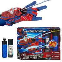 蜘蛛侠 2合1喷丝喷水蛛丝 英雄手腕手套 发射器玩具套装