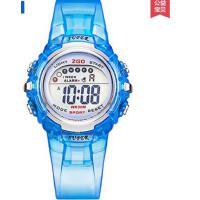 小初中学生简约纯色透明表带防水电子表   休闲百搭 精致耐用 儿童手表