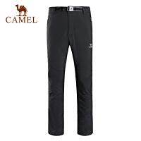 camel骆驼户外软壳裤 情侣款保暖防风男女软壳长裤