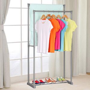 亚思特晾衣架加粗钢管落地晾衣杆阳台双杆挂衣架晒衣架室内L201