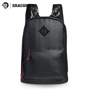 DRACONITE潮流英伦双肩包 男士青年复古背包多功能旅行书包11615