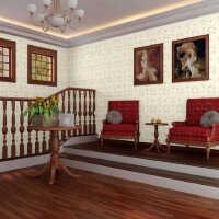 斯图牌 PVC自粘墙纸  4.5平方 胶面壁纸  电视背景卧客厅 ST2065