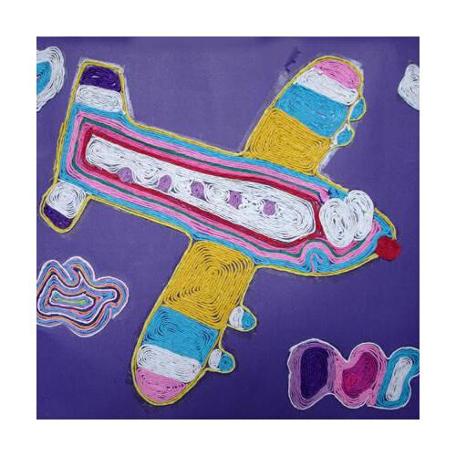 大贸商 50米彩色纸绳粘贴画手工diy材料编织幼儿园儿童创意美劳 ef