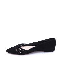 PRADA普拉达羊皮材质镂空设计女士尖头单鞋 支持礼品卡支付