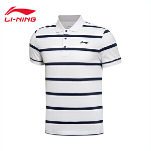 李宁男子运动生活系列短袖POLO衫运动服APLL139