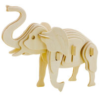 若态木质玩具送物3D立体拼图diy手工拼装模型儿童益智圣诞礼品