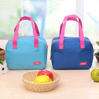 手提包带午餐便当包 加厚保温饭盒袋 时尚保鲜包小拎包奶瓶包 蓝色