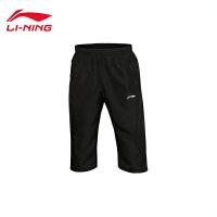 李宁男子训练系列平口运动裤七分裤运动服AKQL019