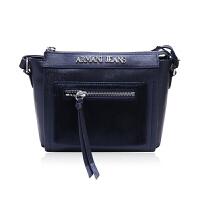 AJ ARMANI JEANS人造毛拉链袋设计女士单肩斜挎包 支持礼品卡支付