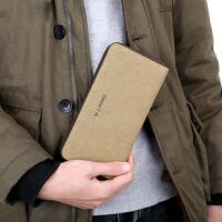 【支持礼品卡支付】男士钱包帆布钱包长款钱包复古手拿包横款多卡位钱包男包