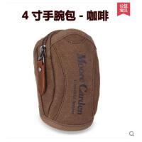 潮男女跑步包 手腕包 腰包男包耐磨耐用帆布包男 苹果手机包