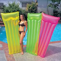 INTEX浮排59717荧光浮排 成人充气躺椅 浮床 水上浮漂工具