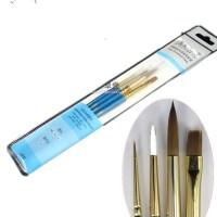 新品 温莎牛顿蓝杆水彩 水粉笔套装混合貂毛 水粉笔套装4支装8604
