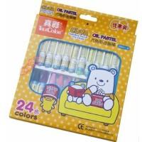 真彩24色油画棒 韩国 儿童 幼儿 蜡笔套装 无毒 酷丫2966A-24