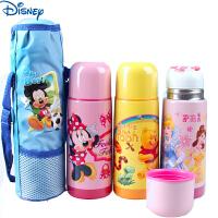 迪士尼米奇公主儿童卡通真空不锈钢保温杯水壶学生水杯小学生保暖杯带杯套5699/5698