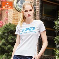 女士短袖T恤夏季速干T恤透气徒步运动短袖快干衣