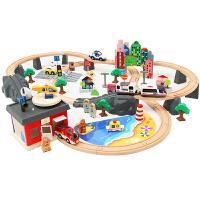 木质托马斯小火车套装轨道3-7岁男孩和谐号电动高铁儿童玩具