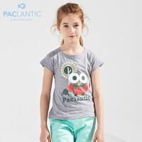 派克兰帝品牌童装 女童夏季针织短袖T恤