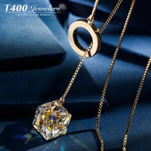 T400采用施华洛世奇元素水晶韩国气质新款毛衣链女个性长项链馨香  7346