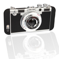 坚达 创意照相机手机壳 硅胶全包挂脖防摔保护套 适用于iphone5/5s 保护套 保护壳
