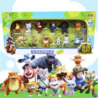 熊出没熊熊乐园Q版熊大熊二光头强公仔过家家儿童玩具套装