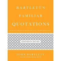 (第三方)【预订】Bartlett's Familiar Quotations 9780316017596价格比较