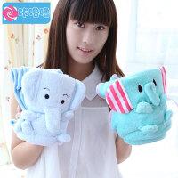 咔噜噜空调毯子可爱卡通儿童 空调毯 龙猫 轻松熊 熊猫 大象 折叠卷毯 情人节礼物