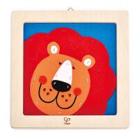 德国HapeE5103刺绣布贴画-狮子儿童创意早教布贴画