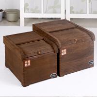 家逸 实木保鲜米箱米桶防虫密封储米箱桐木橱柜厨房储物