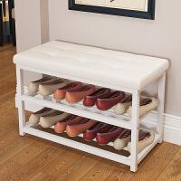 亿家达换鞋凳沙发凳简约现代储物凳双层鞋柜矮凳子创意收纳鞋架子