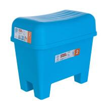 [当当自营]禧天龙Citylong 大号塑料收纳凳 浴室防滑凳换鞋凳 蓝色1个装 2018收纳盒整理箱收纳箱