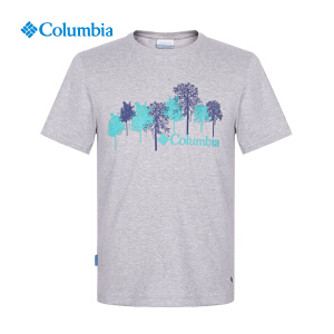 【领卷满400减100】Columbia哥伦比亚户外男士排汗透气速干圆领短袖T恤PM1797