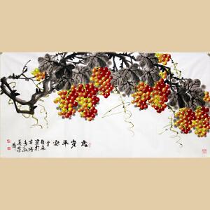 【真迹R302】《岁岁平安》作者贾维永-山东美协元老级会员,中国美术家联谊会副主席。