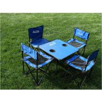伊贝尔双层加厚户外露营折叠桌椅套装野餐桌椅子自驾游用品便携式 R-103