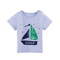 童泰 1-2-3宝宝衣服 男夏装透气吸汗短袖上衣 夏季