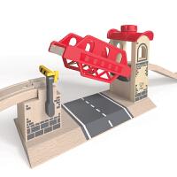 德国HapeE3709神奇升降桥儿童早教火车轨道配件玩具