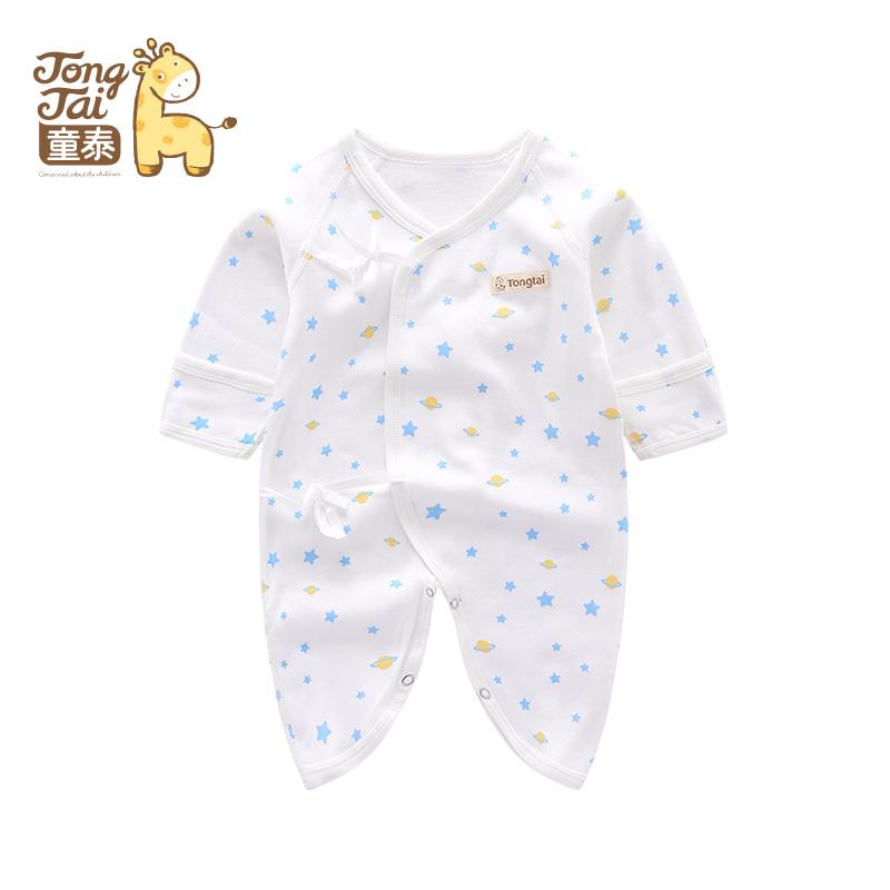 童泰新款婴幼儿衣服新生儿连体衣男女宝宝蝴蝶哈衣内衣连身衣爬服