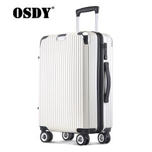 【可礼品卡支付】osdy新款旅行箱男女拉杆箱海关锁密码24寸托运箱