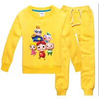 猪猪侠男童秋冬套装 卡通童装卫衣 幼儿园班服 女童 宝宝加绒衣服